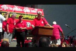 CWA & IBEW Mass Rally at Verizon NYC HQ July 30, 2011